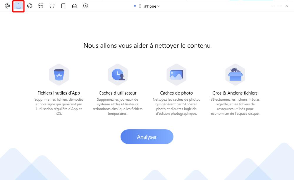 Libérer plus d'espace de stockage sur iPhone – étape 1