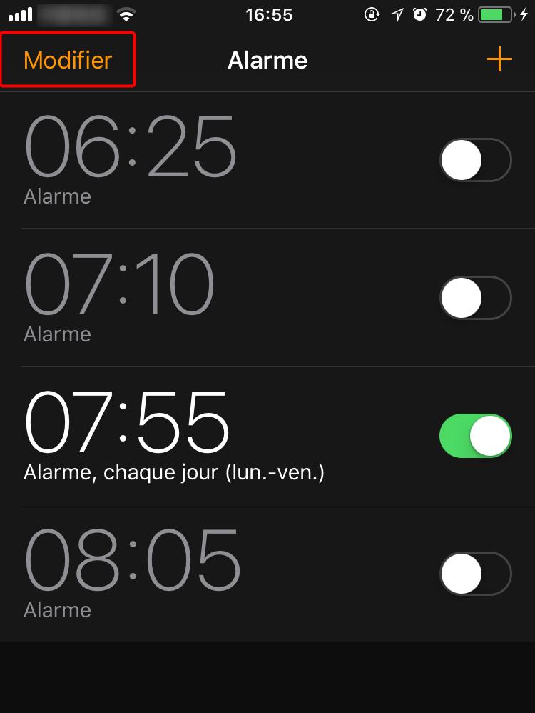Comment changer la sonnerie d'alarme sur iPhone - étape 1