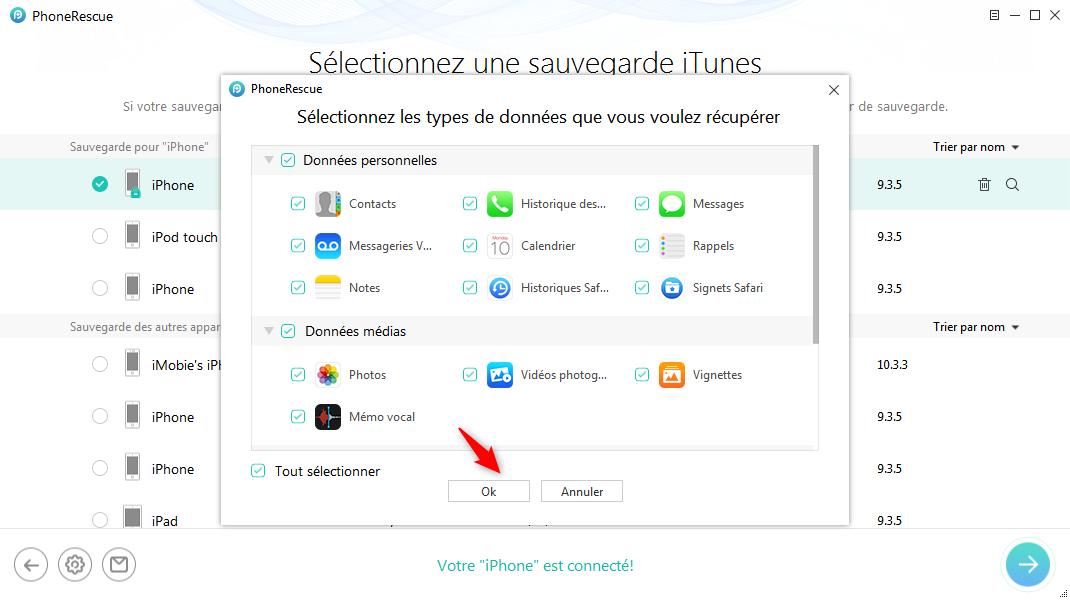 Choisissez le type de fichier dont vous avez besoin - étape 4
