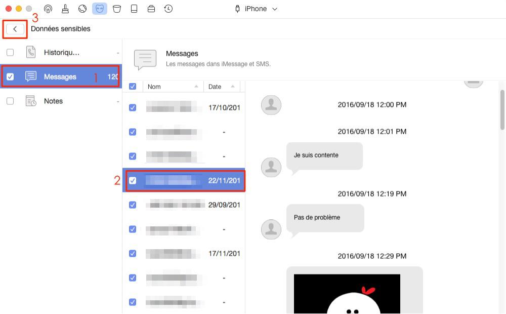 Comment supprimer les messages et les fichiers joints sur iPhone – étape 3
