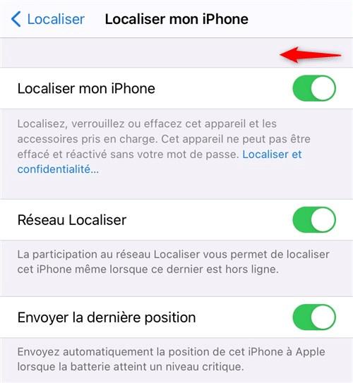 Se déconnecter du compte iCloud