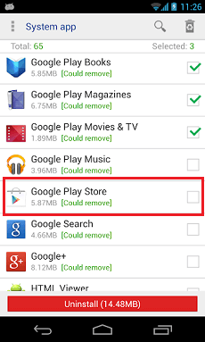 Désactiver Play Store