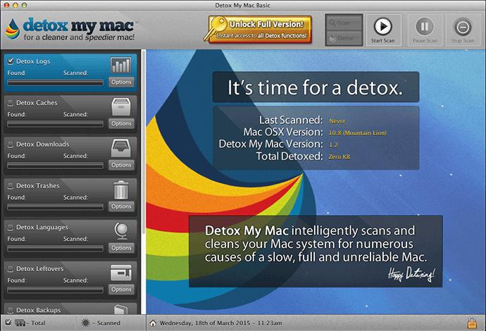 Logiciel de nettoyage pour Mac - Detox My Mac