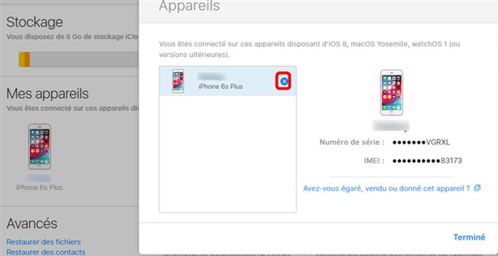 Dévérrouiller iPhone sans mot de passe depuis iCloud - étape 3