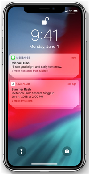 iOS 12/12.1.1 : Notification groupée nouvelle