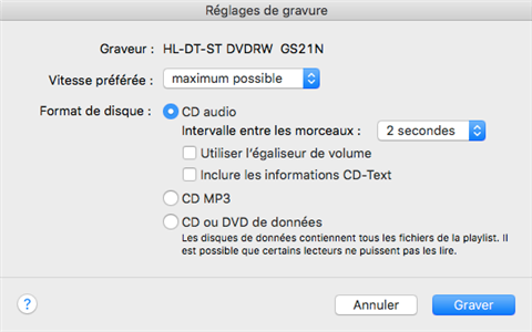 Comment graver CD sans iTunes