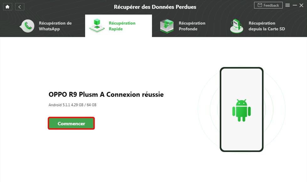 Connectez l'appareil Android à l'ordinateur