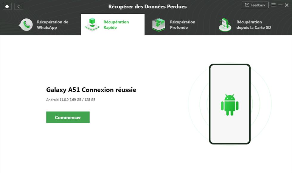 Connecter l'appareil Samsung à l'ordinateur