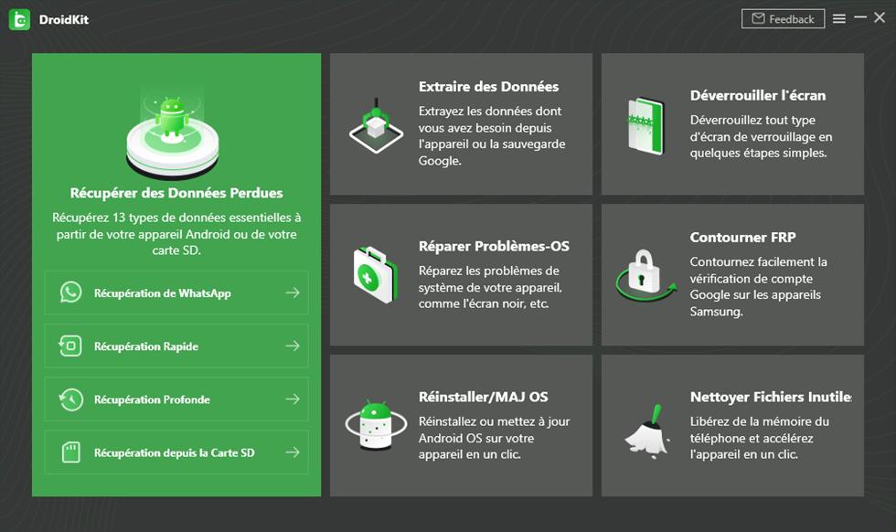 Top 5 logiciels de récupération de SMS Android – DroidKit