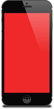 L'écran iPhone 7 rouge