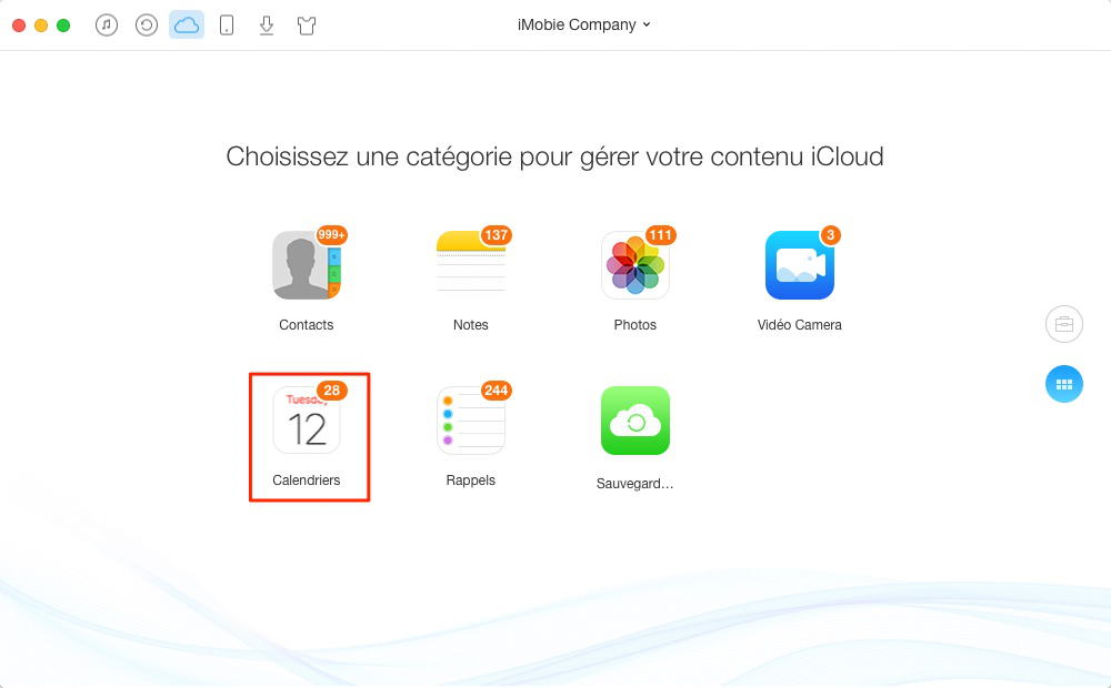 Gérer les calendriers iCloud facilement – étape 3