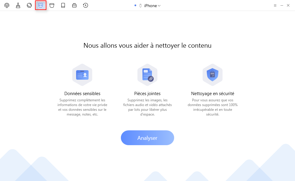 Choisissez Nettoyage de données privées - étape 1