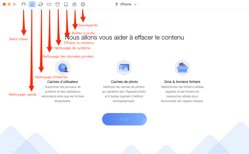 Comment vider iPhone/iPad complètement – étape 2