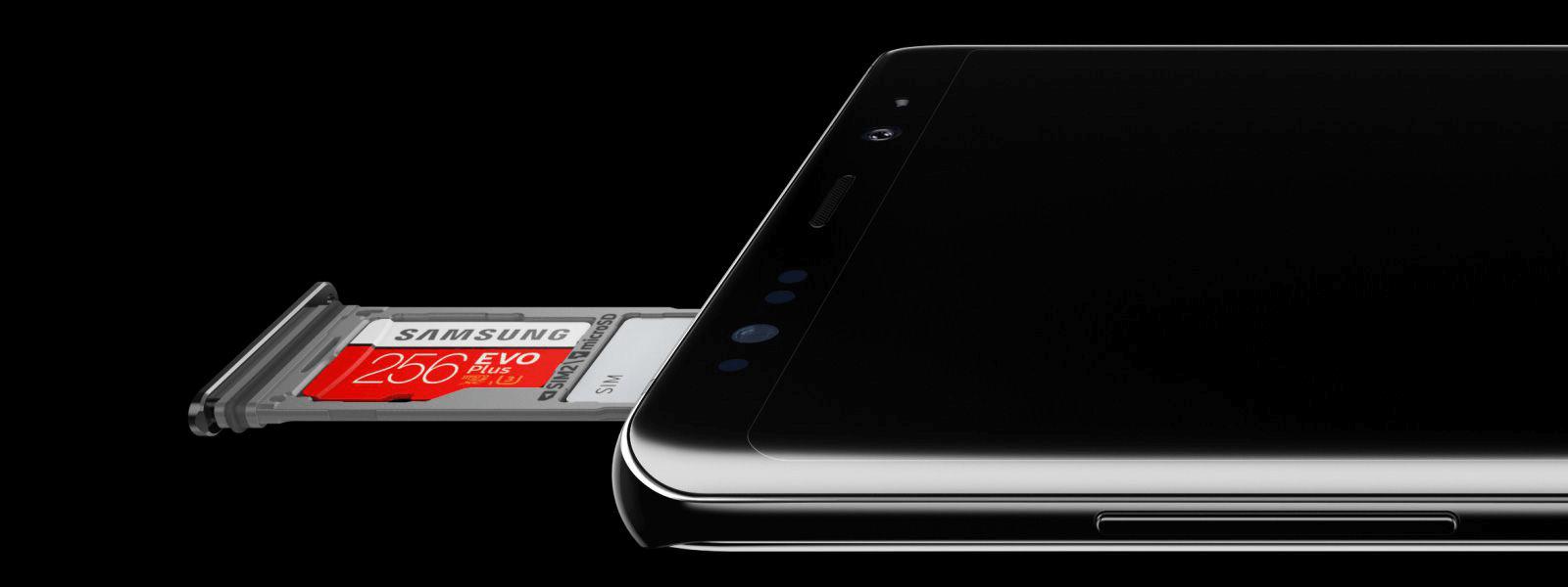 Emplacement de la carte mémoire du Samsung Galaxy S20
