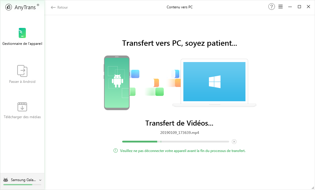 Transfert de données Android
