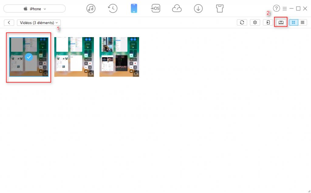 Comment transférer des vidéos de l'iPhone vers l'ordinateur - Étape 3