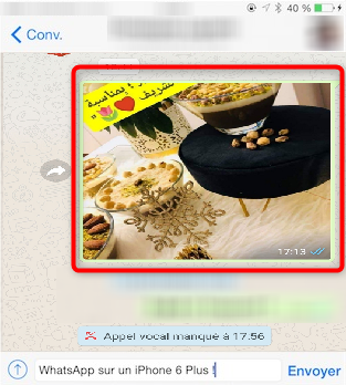 Sauvegarder les photos WhatsApp sur iPhone