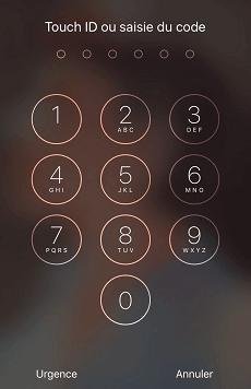 Entrer le mot de passe pour déverrouiller votre appareil.