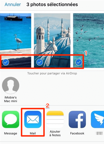 Transférer vos photos iPhone vers PC via e-mail