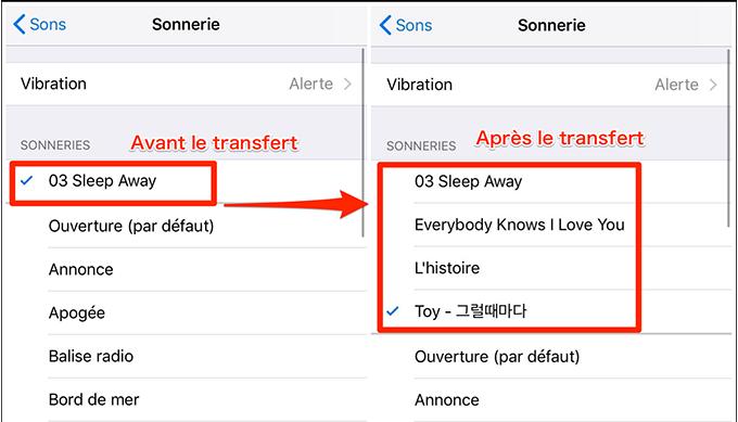 Voir et personnaliser les sonnerie sur nouvel iPhone - étape 4