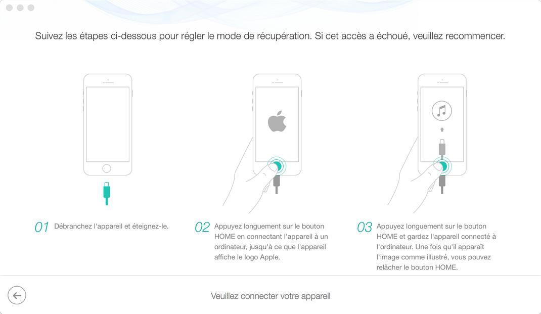 Réparer une erreur sur la mise à jour iPhone - étape 4