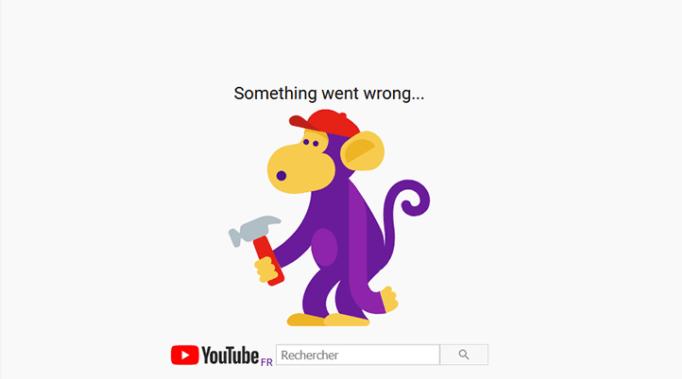 Erreur Youtube 503