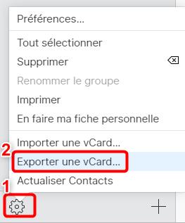 Extraire les contacts depuis iCloud