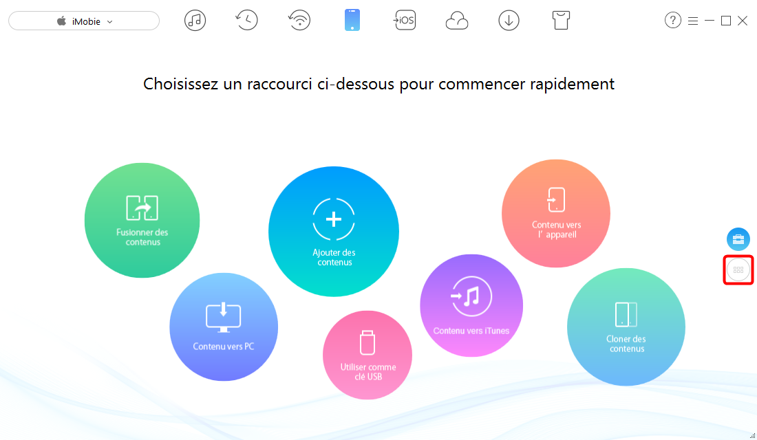 Comment exporter contacts de l'iPhone vers PC/Mac avec AnyTrans – étape 1