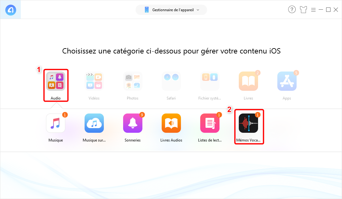 Extraire des mémos vocaux iPhone via AnyTrans pour iOS - 2