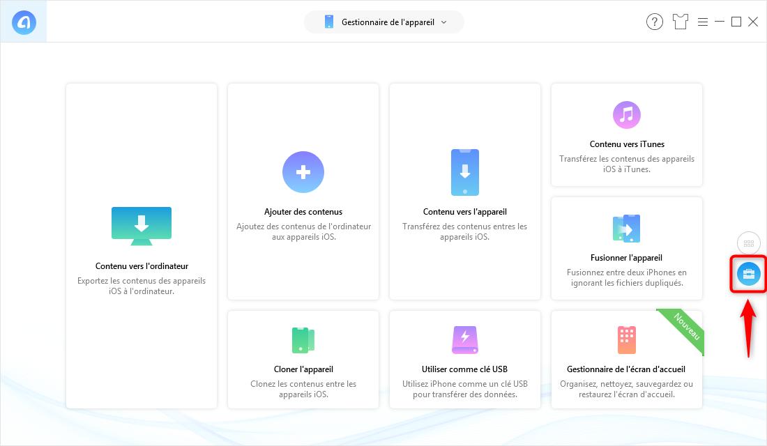 Comment extraire les messages iPhone vers PC/Mac - étape 1