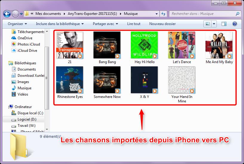 Comment importer la musique d'iPhone vers ordinateur - étape 4