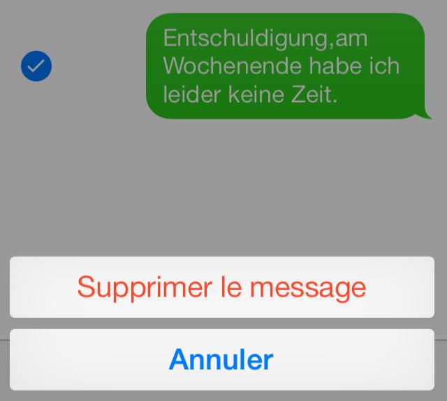 Comment libérer de l'espace sur iOS Devices 9 - Supprimer iMessages