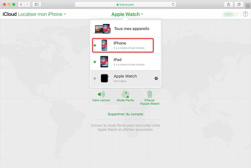 Accéder à la liste pour déverrouiller un iPhone à écran cassé