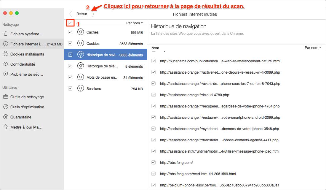 Comment nettoyer les fichiers inutiles avec l'aide de MacClean - étape 3