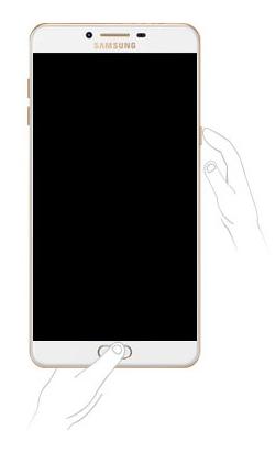 Capture sur Samsung avec boutons