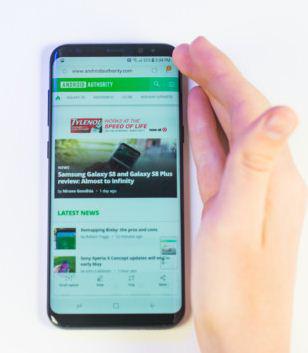 Capture d'écran de Samsung Galaxy - Geste de la paume