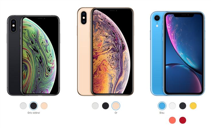 Nouvel iPhone en 2018: iPhone XS/XS Max/XR