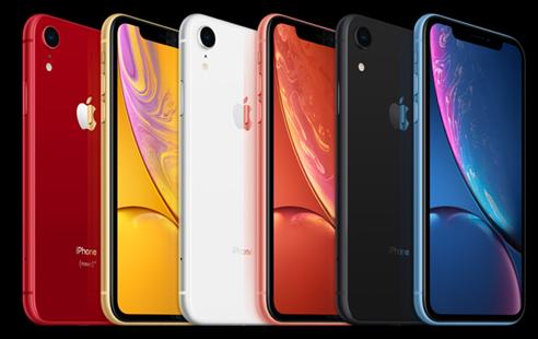 iPhone XR à divers couleurs
