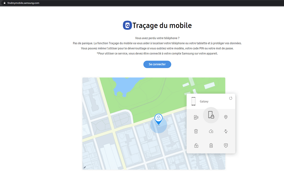 Traçage du mobile Samsung