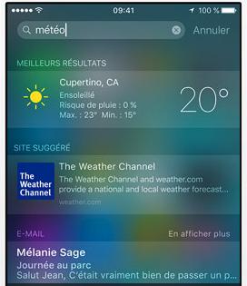 Fonctionnalités Cachés d'iOS 9 - La recherche de Spotlight plus intelligente