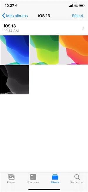 Fonds d'écran pour iOS 13