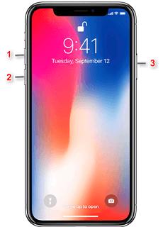 Comment forcer à éteindre iPhone X