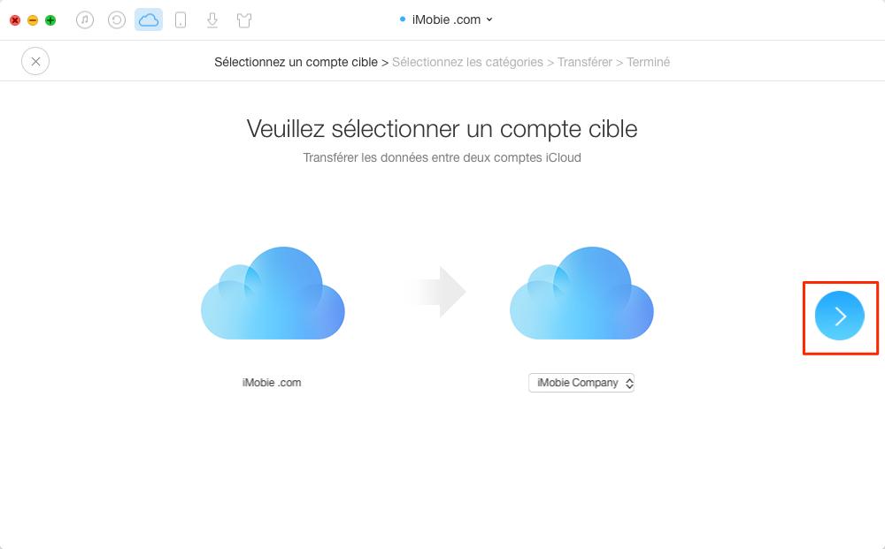 Comment fusionner deux ou plusieurs comptes iCloud en un seul – étape 3