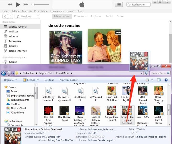 Comment mettre de la musique sur iTunes depuis PC/Mac