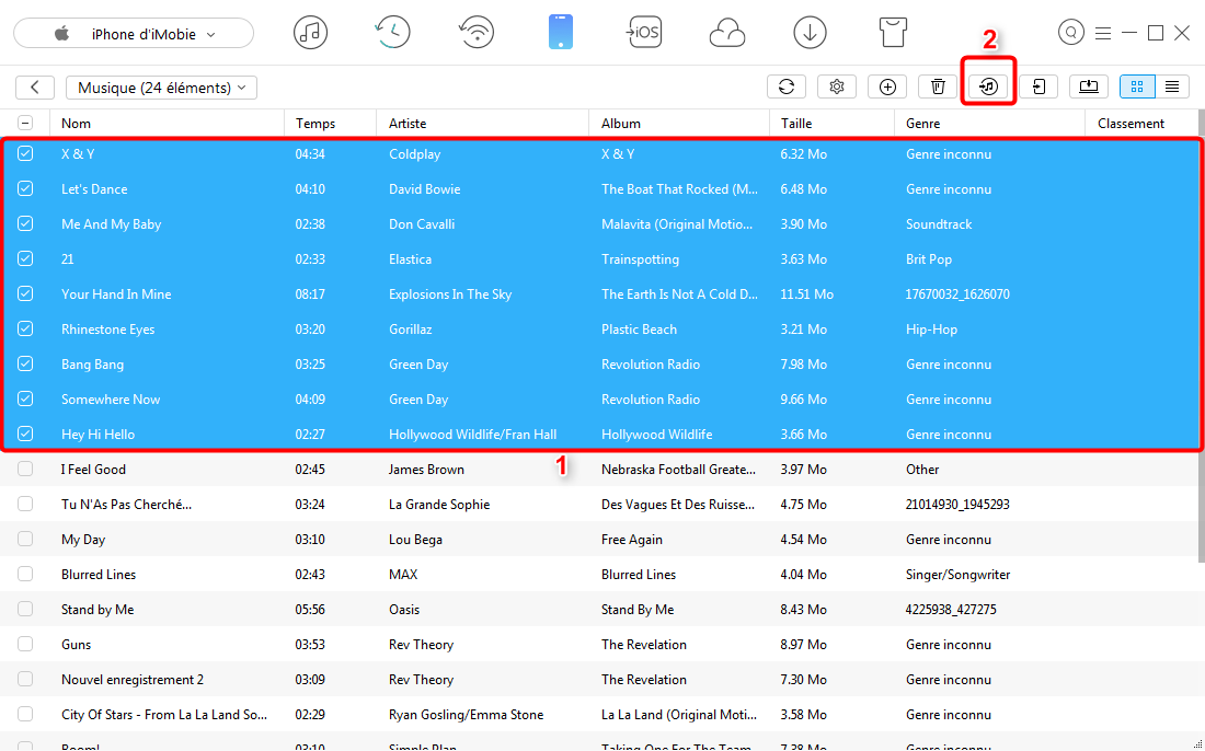 Comment importer de la musique sur iTunes – étape 3