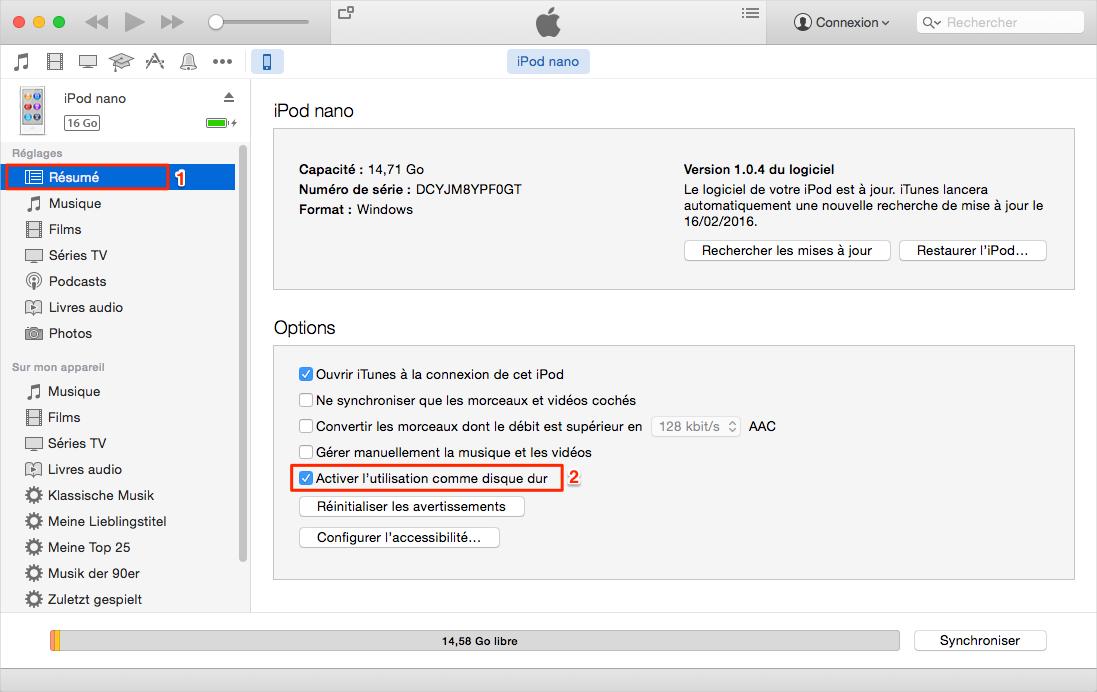 Comment utiliser de l'iPod comme disque dur - étape 3