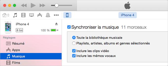 Comment importer de la musique sur iPhone avec iTunes - étape 3
