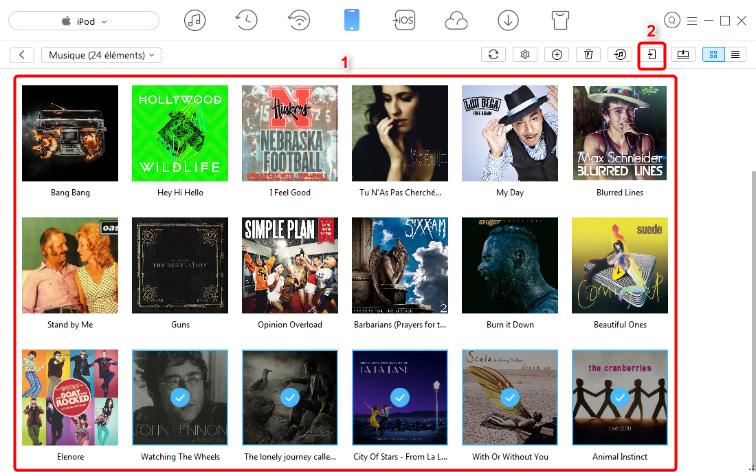 Transfert rapide de musique de l'iPod à l'iPhone – étape 3