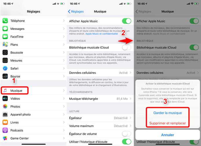 Transférer de la musique iPhone sur Mac via iCloud