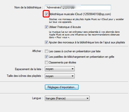 Exporter de la musique iPhone sur Mac via iCloud